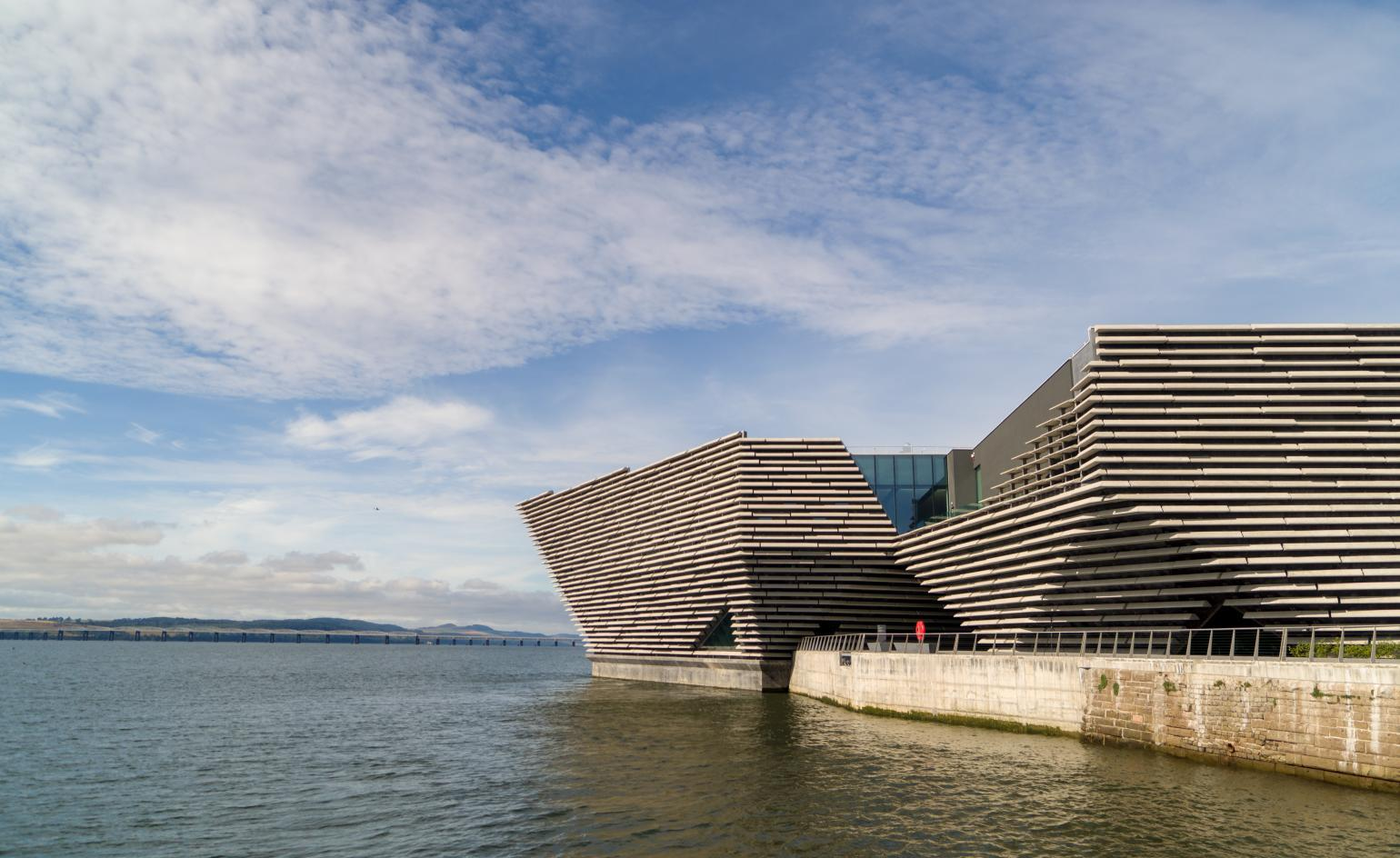 Opening on 15 September 2018, the V&A Dundee will be the lauded Japanese architect's first building in the UK / Rapid Visual Media