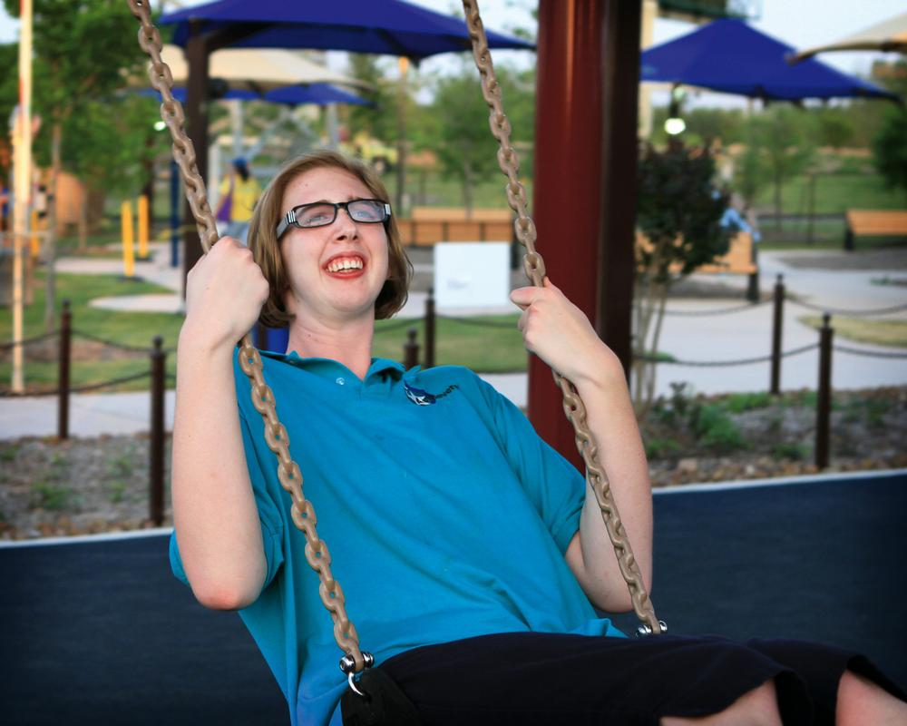 Morgan Hartman, who has cognitive delay, inspired her father Gordon to create a theme park that all people can access and enjoy