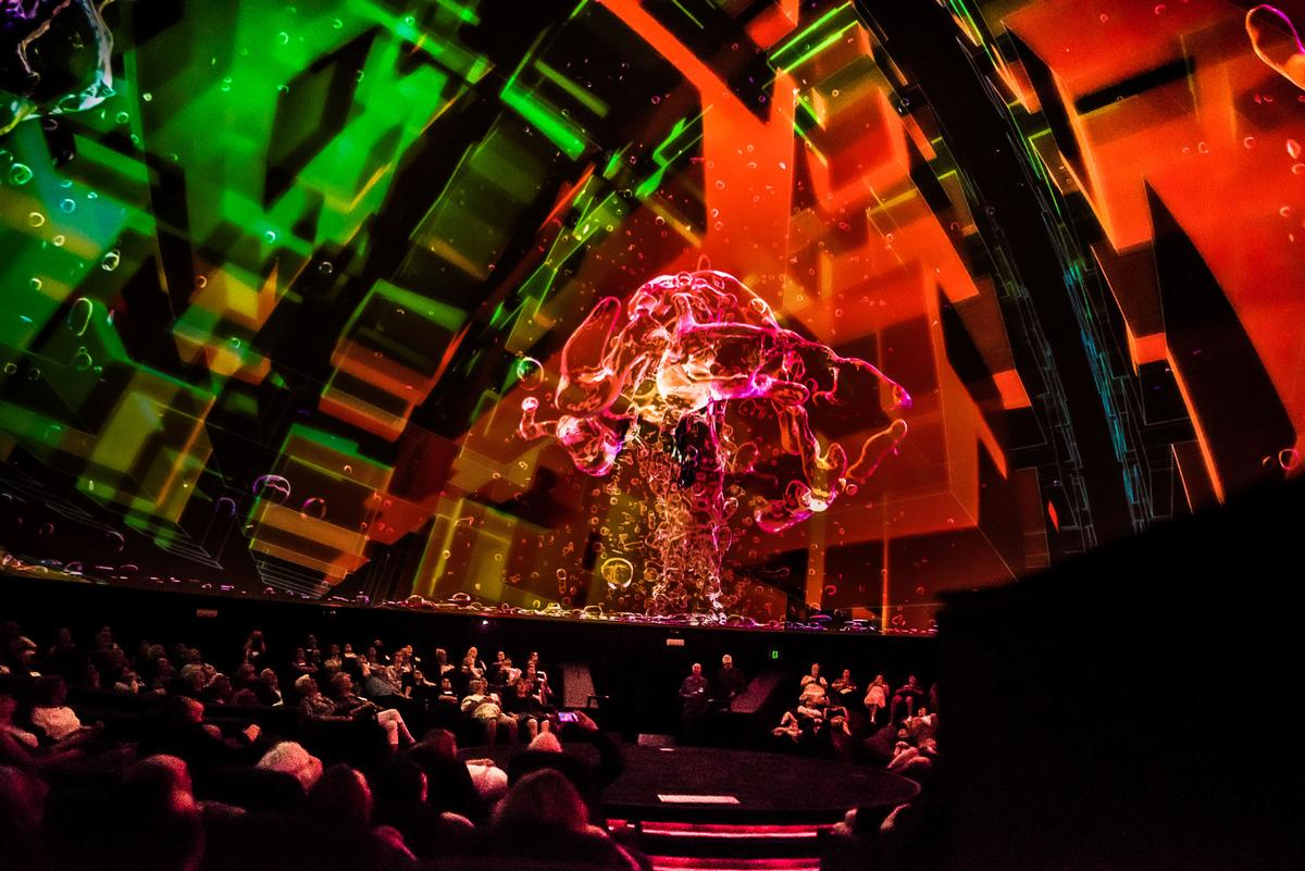 The planetarium immerses guests in the night sky and distant galaxies in 10K resolution