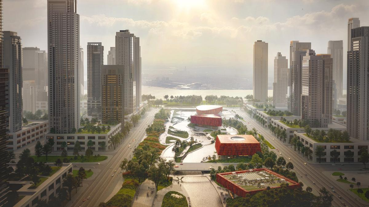 'Sponge City' is one of six competition entries being considered for the Asian Games / Benthem Crouwel