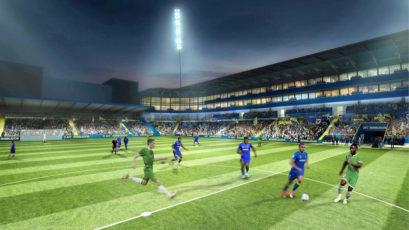 The club will be required to start next season at Kingsmeadow before moving into the new ground. An exact date has yet to be finalised. / AFC Wimbledon