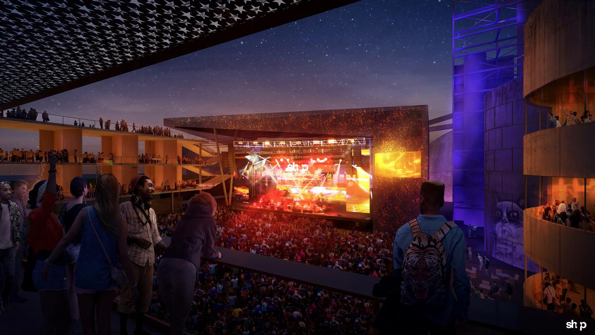 The amphitheatre has been designed to replicate the intimacy of the First Avenue venue in central Minneapolis
