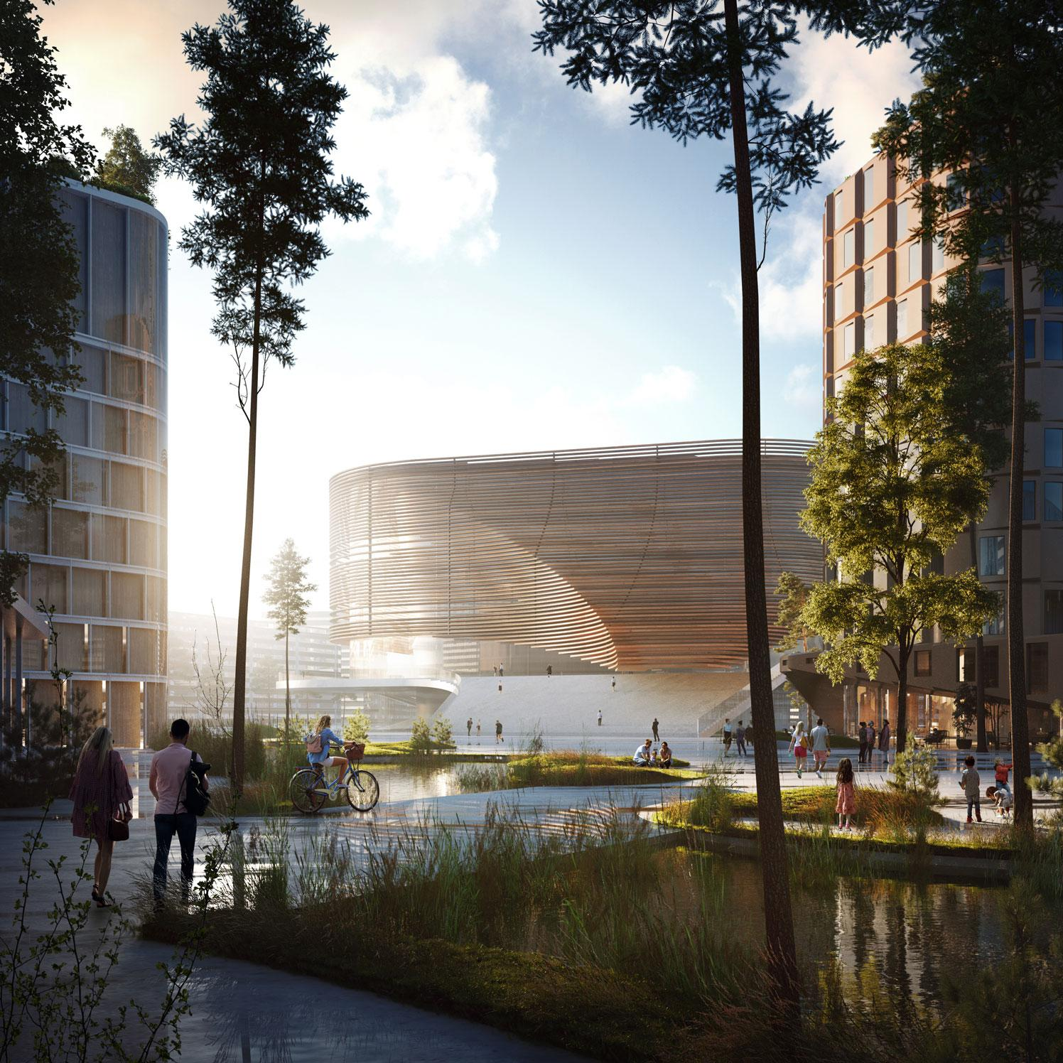 3XN's Bergen masterplan makes arena the city's hub