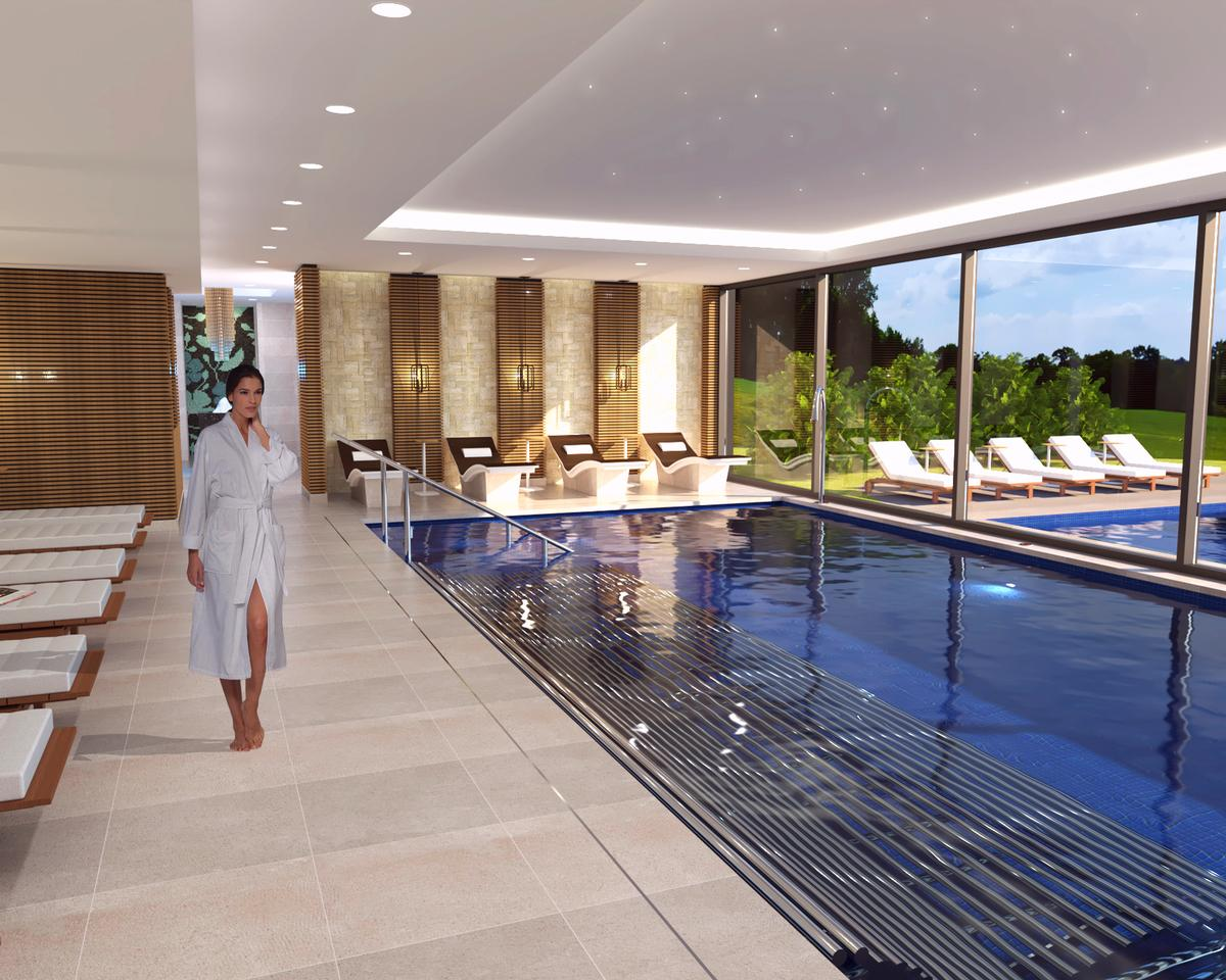 The spa will feature a range of 'world class experiences', including: a hydrotherapy pool, outdoor sauna, hot tubs, private 'secret garden' relaxation spaces