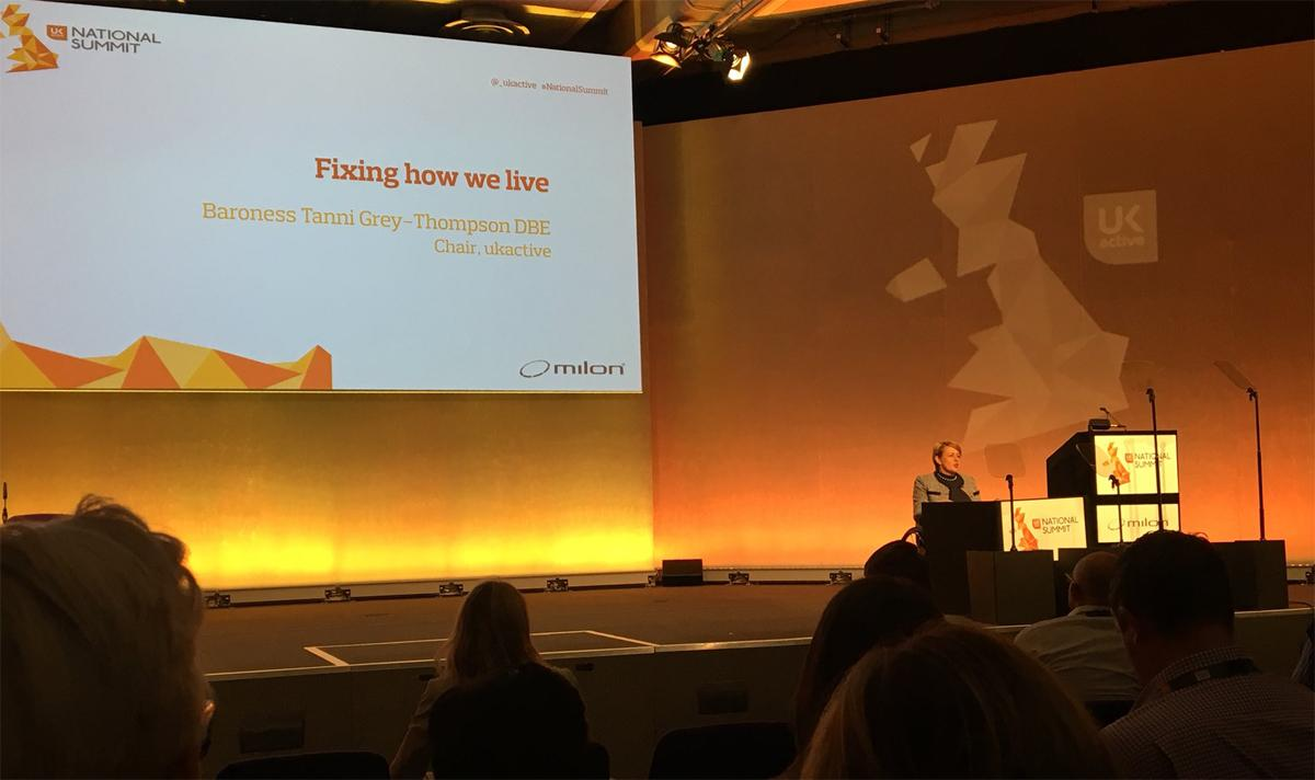 Tanni Grey-Thompson was speaking at the ukactive National Summit earlier today