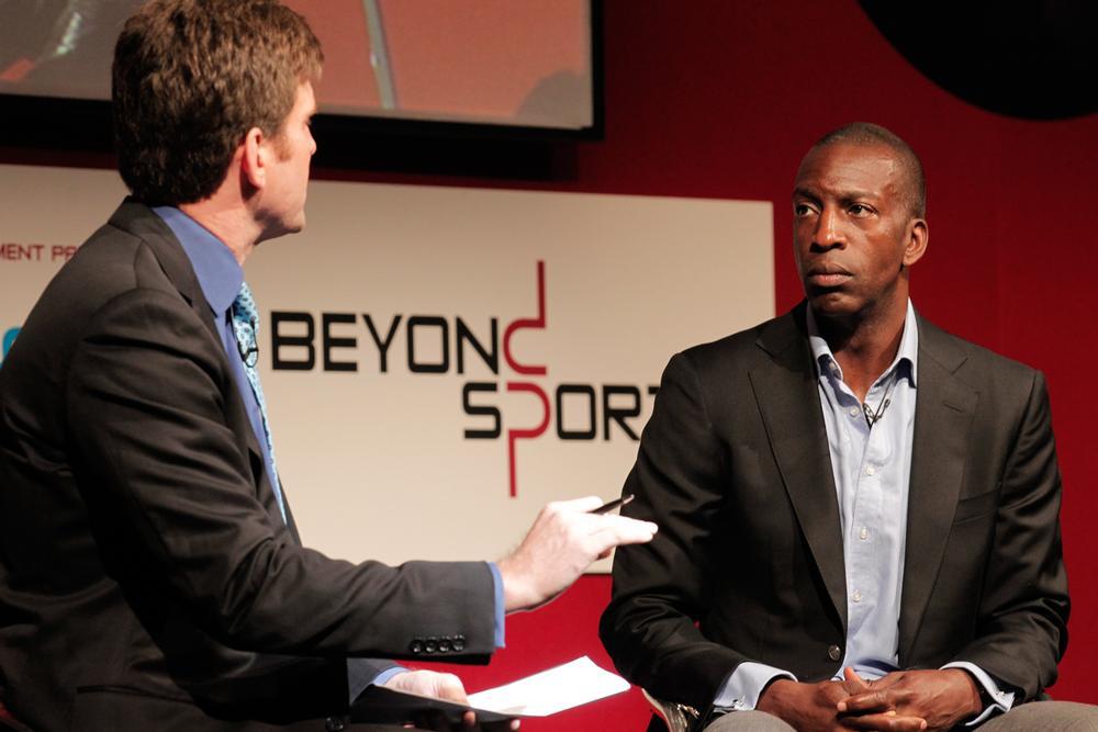 Beyond Sport ambassador Michael Johnson