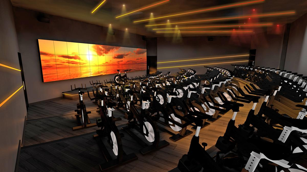 FirstLight features three separate studios offering full body, cycle workouts led by trainers in darkened rooms