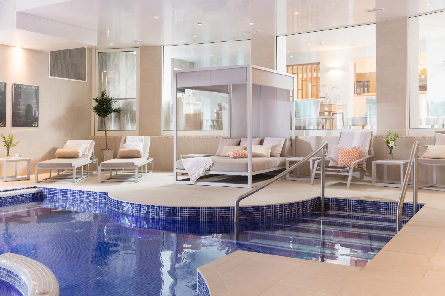 St Michaels Spa features 10 treatment rooms, a hydrotherapy pool, a Cornish salt steam room and a rainforest steam room