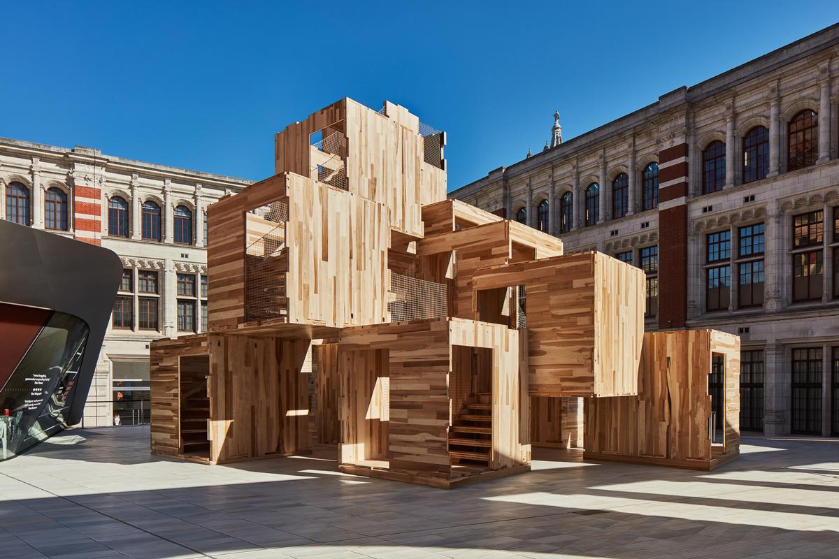 MultiPly at ground level / courtesy of Waugh Thistleton Architects