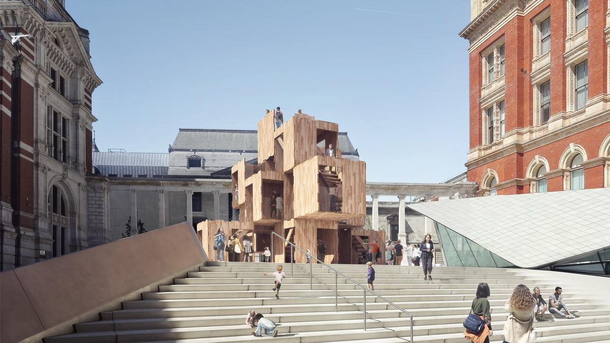 MultiPly at a distance / courtesy of Waugh Thistleton Architects