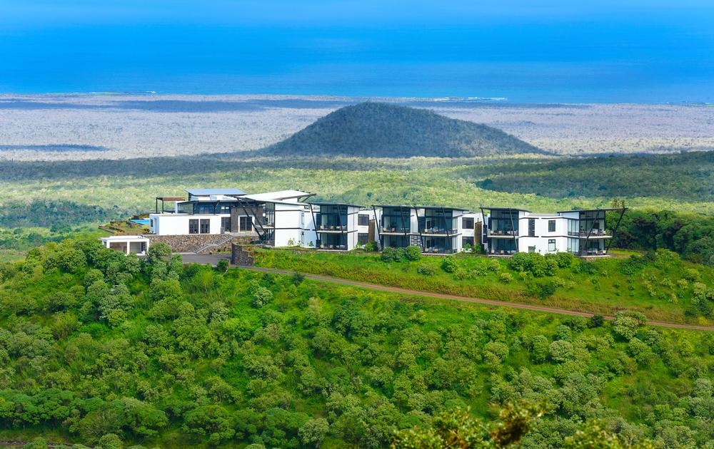 Pikaia Lodge is set on the crater of an extinct volcano 450m above sea level on the Galapagos island of Santa Cruz