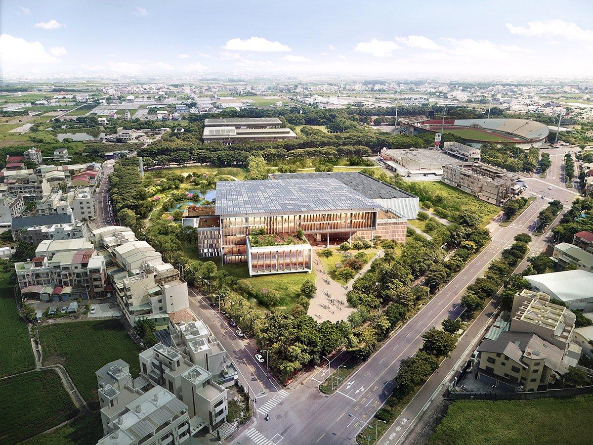 A bird's eye view of the library campus / courtesy of BAF and Carlo Ratti