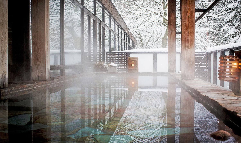 Warm bathing lies at the heart of the Yasuragi spa experience
