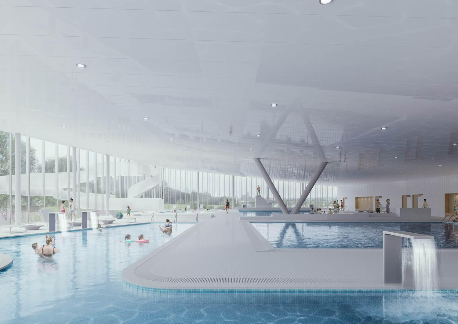 An image of the swimming pool / courtesy of Mecanoo
