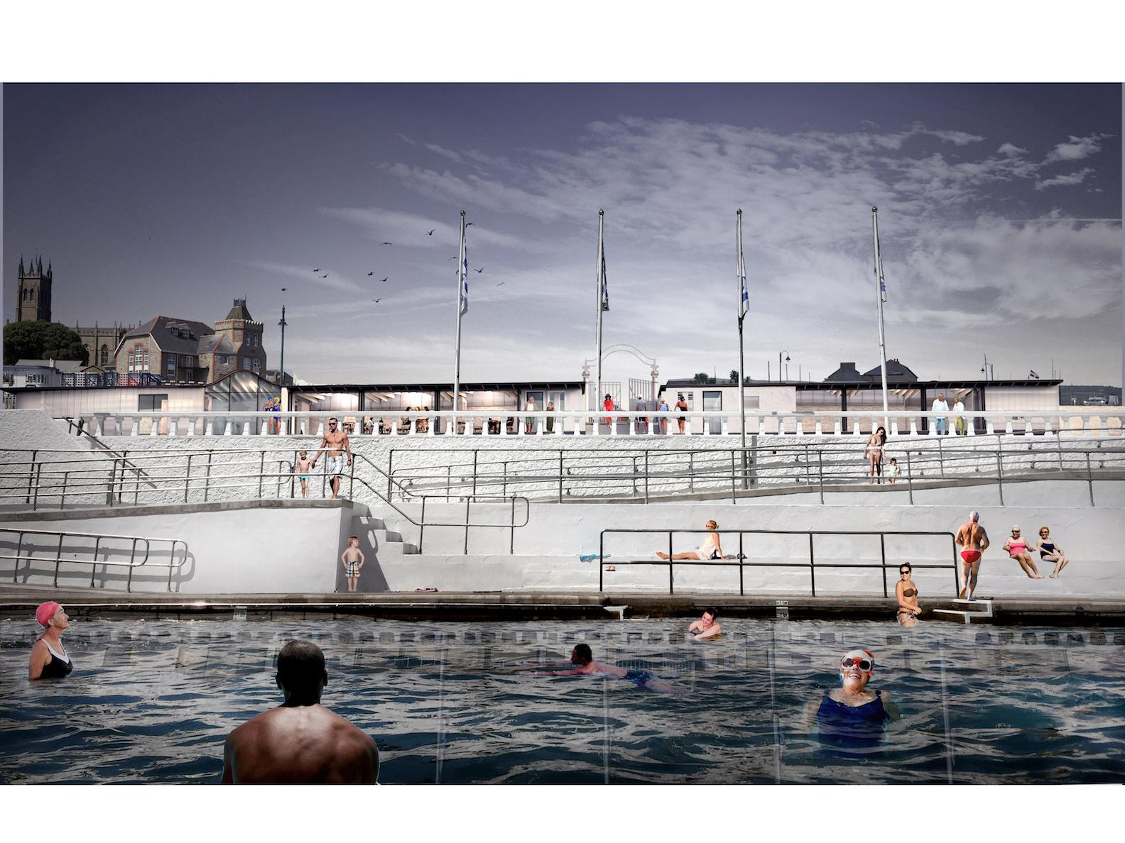 ScottWhitbyStudio (SWS) was asked to prepare proposals for safeguarding the future of the Grade II listed pool by providing year-round facilities for the people of Penzance