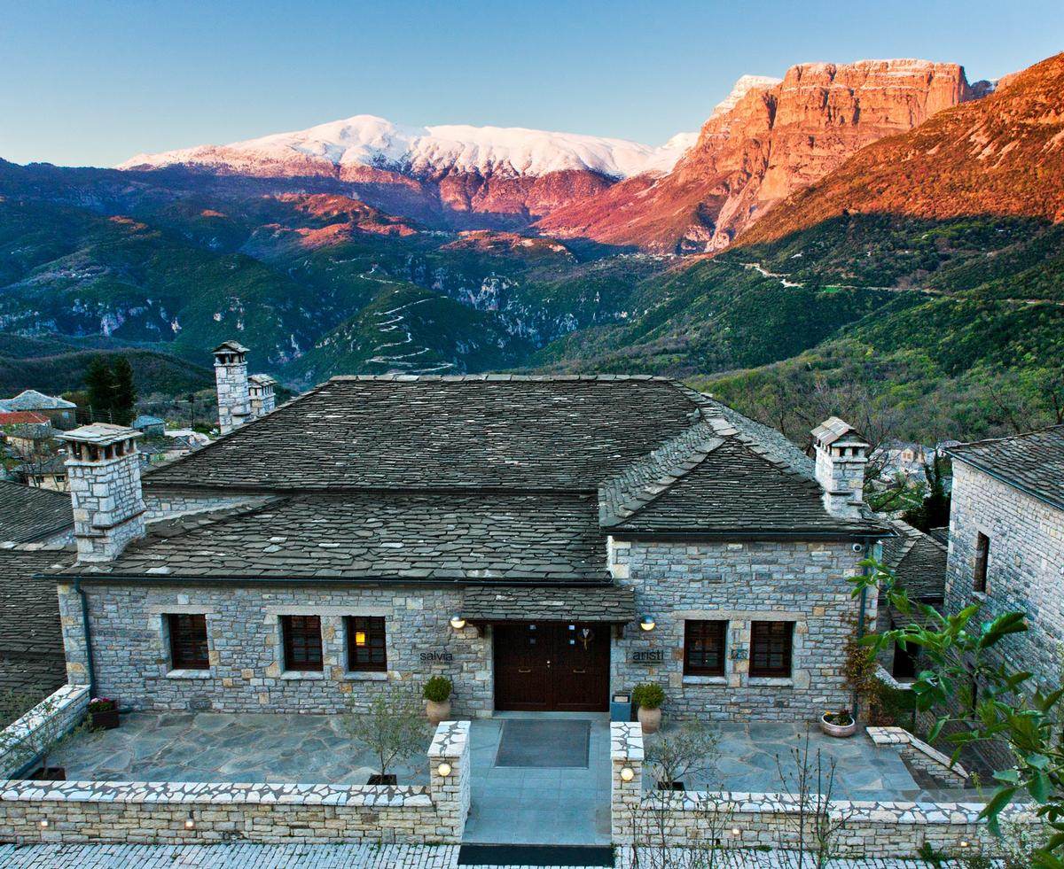 Guests can take advantage of the resort's panoramic views over the Vikos Gorge, the Towers of Paingo and the Astraka mountain peak