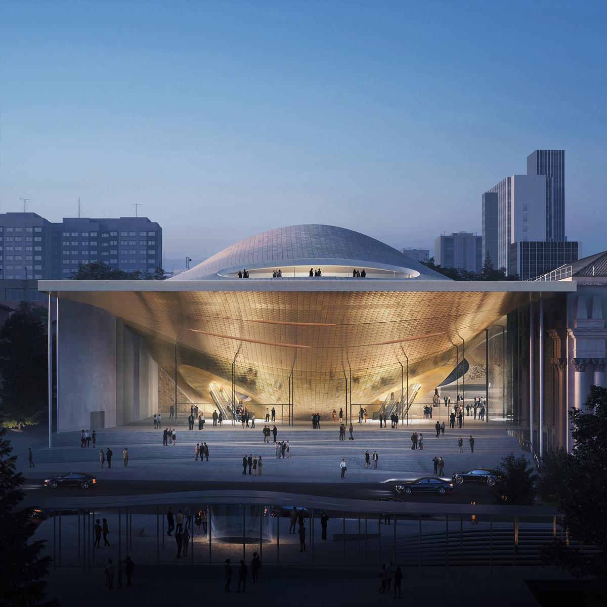 Dmitry Liss, artistic director and principal conductor of the Ural Philharmonic Orchestra said the ZHA-designed concert hall would 'bring sound to life' / Courtesy of Zaha Hadid Architects