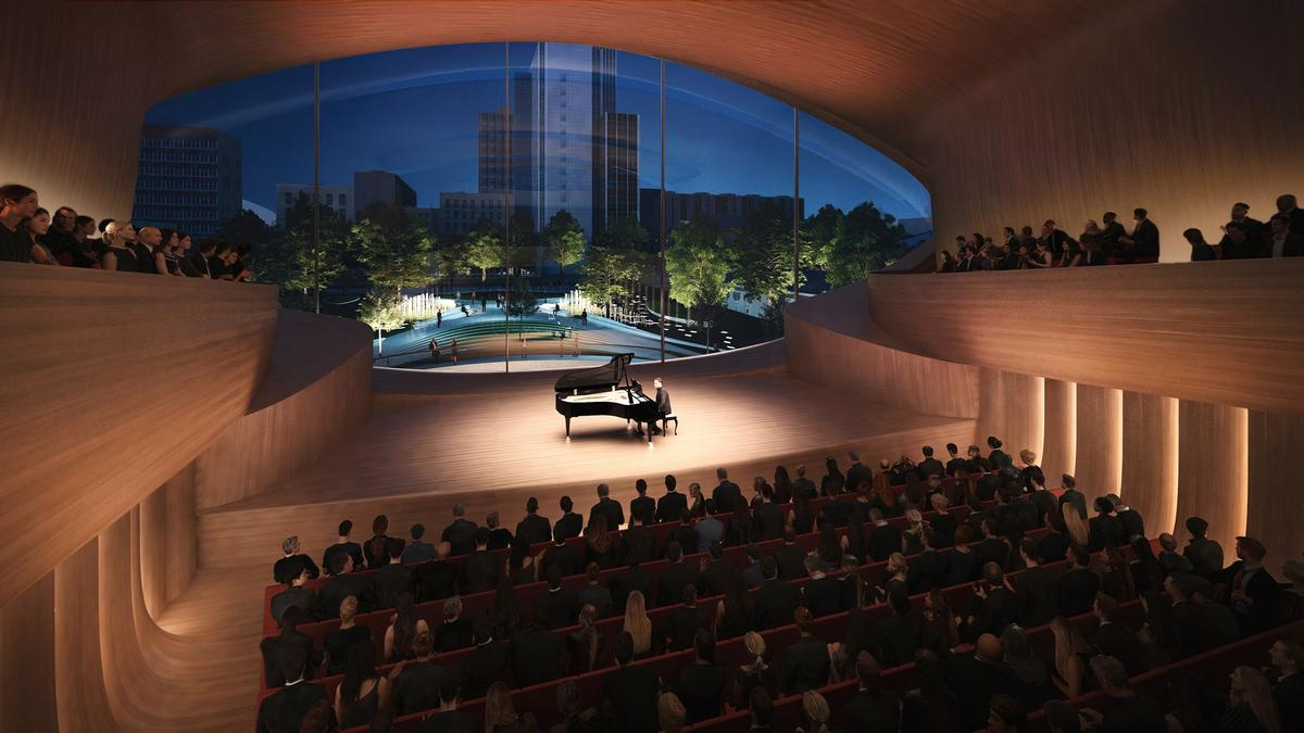 The new concert hall will replace the old Philharmonic building, which was constructed in the 1930s / Courtesy of Zaha Hadid Architects