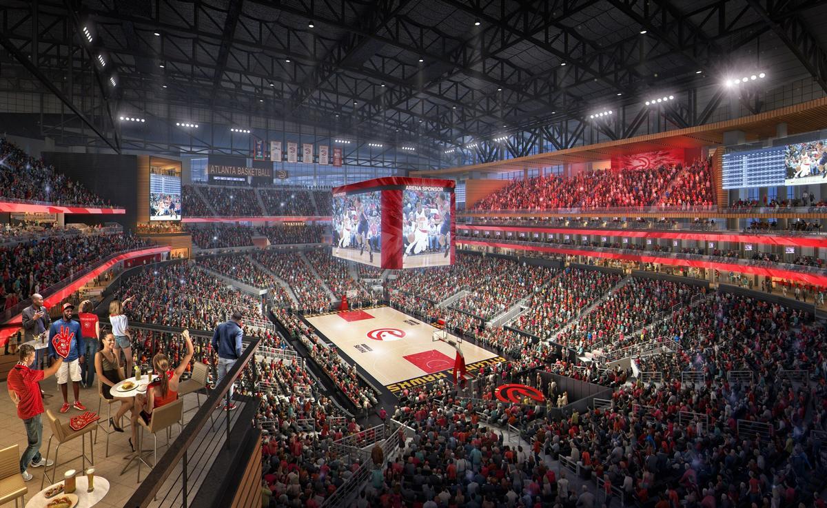 Atlanta Hawks State Farm arena nears completion