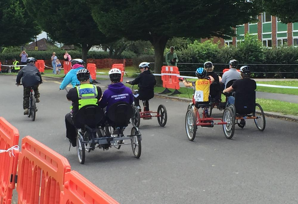 The events encouraged participation by all types of riders, with the inclusion of an adaptive bike session