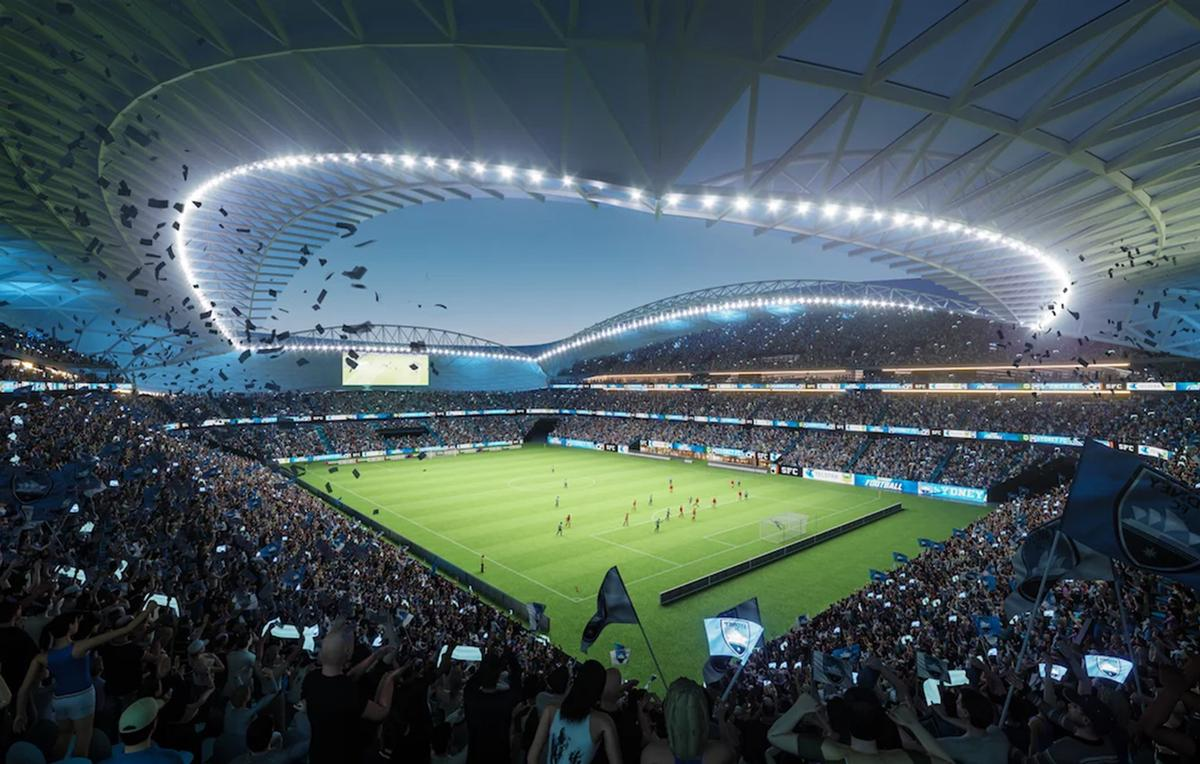 Patrick Ness, executive chair of Cox Architecture, said the stadium would have more of a 'community value' for teams and fans. / Courtesy of Cox Architecture