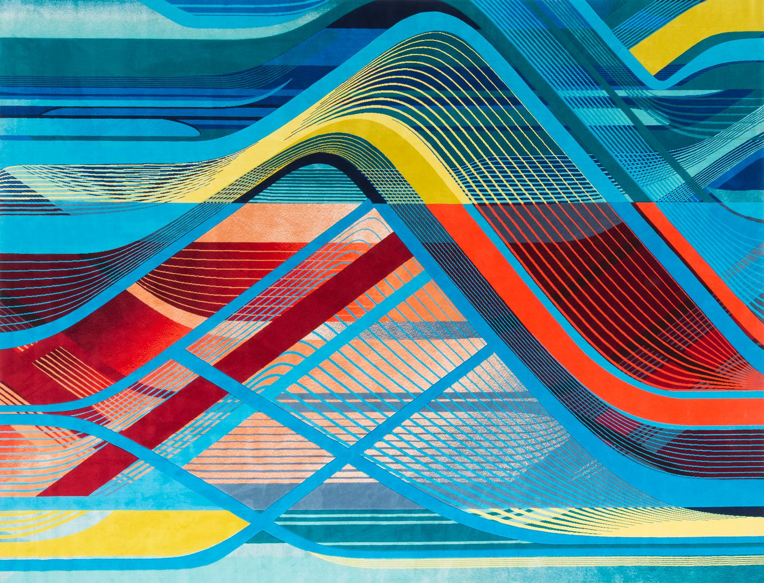 The carpets capture Hadid's notable use of layering and interweaving as well as her use of light and shadow