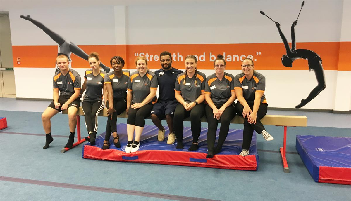The facility was opened by Commonwealth Games champion gymnast Courtney Tulloch (centre)