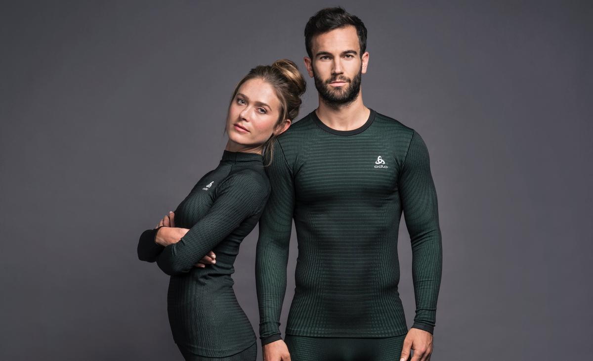 Futureskin clothing reportedly is devoid of 'bonding, seams, or inserts'. / Courtesy of Odlo and Zaha Hadid Design