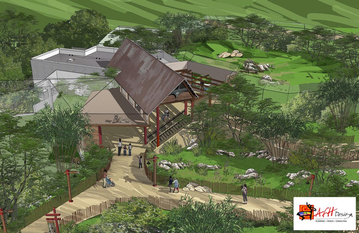 Wild Asia will open in Q2 2020 and will feature tigers, red pandas and gibbons
