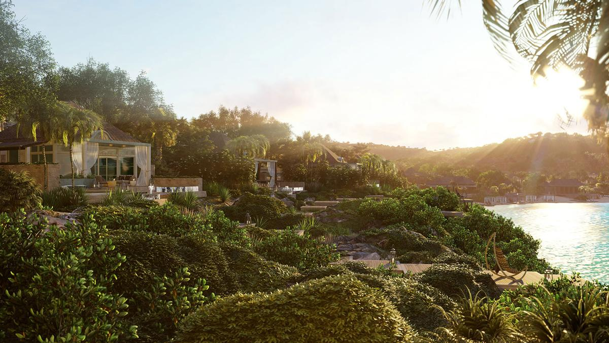 In a statement, OBMI said their approach would let 'nature govern the architecture'. / Courtesy of Replay Destinations