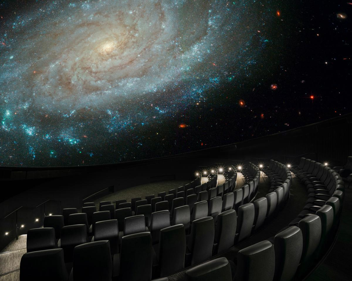 The planetarium is powered by Digital Projection's INSIGHT Dual Laser 4K projection system