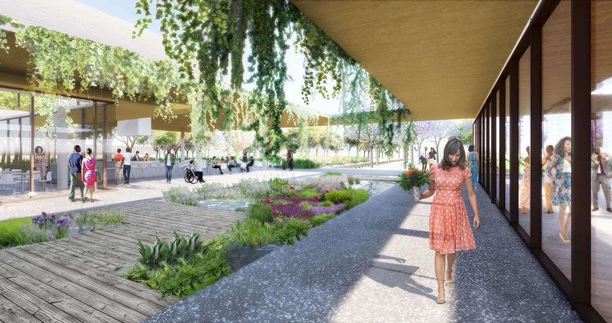 In a statement, Sasaki said that their designs would 'improve the site's ecological health, foster unique harmonious architectural design, and set the park up for self-sustaining, economic success'. / Courtesy of Sasaki