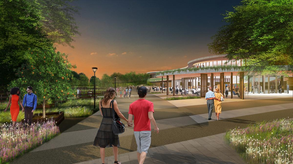 Bonnet Springs Park is slated to open in 2020. / Courtesy of Sasaki