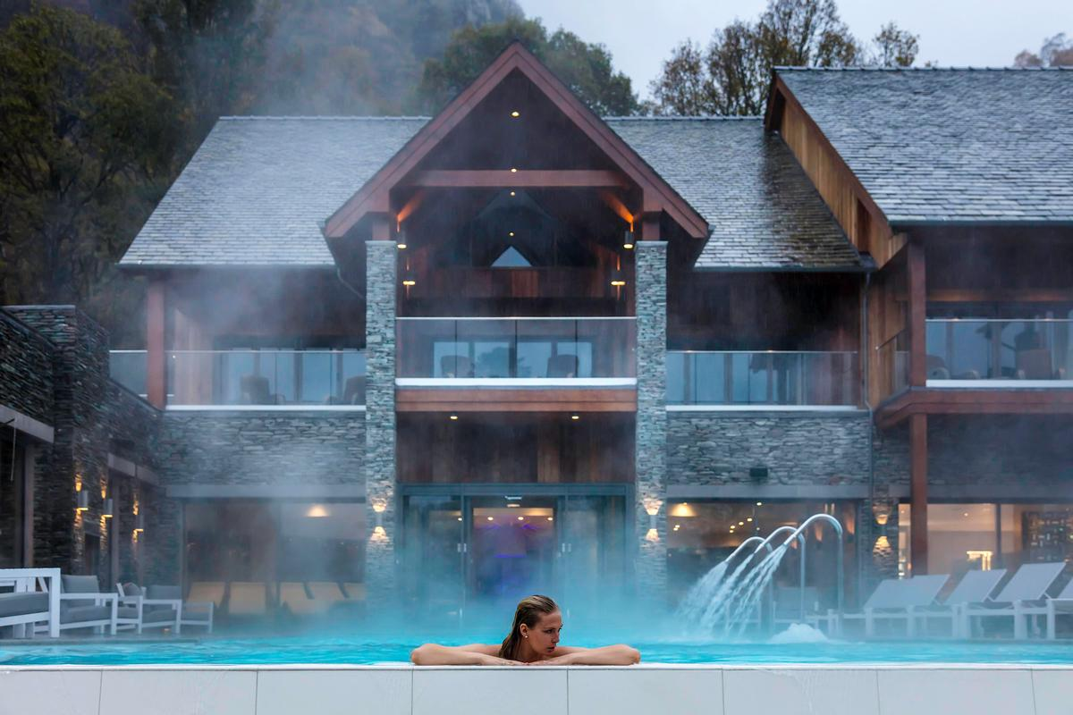 The spa was designed to 'harness the healing power of nature' by architecture firm Unwin Jones Partnership