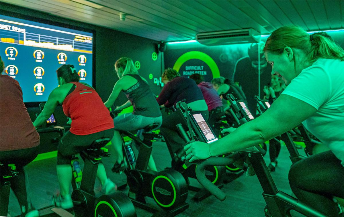 The studio, at the Waterfront Leisure Complex in Greenock, features 16 bikes