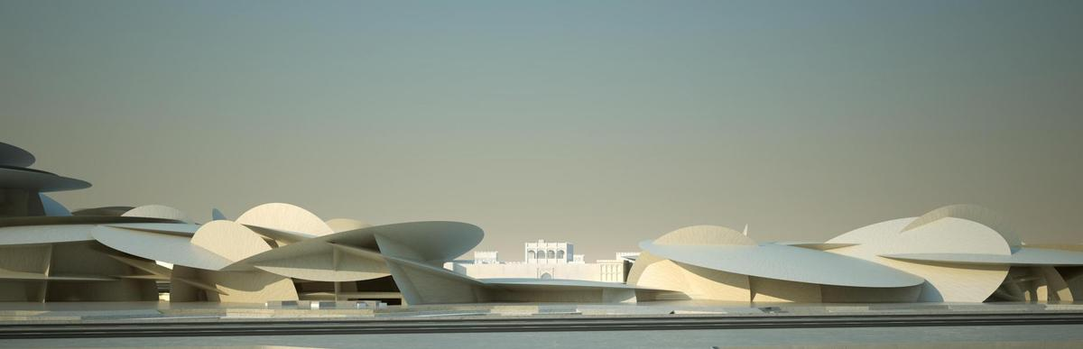 The museum will provide 8,000 sq m of permanent and 2,000 sq m of temporary gallery space. / Courtesy of Jean Nouvel