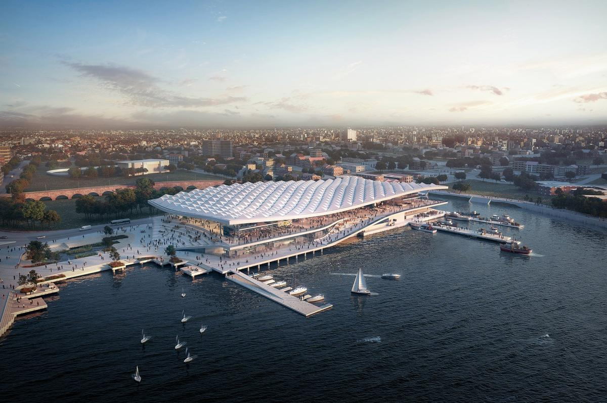 3XN won the contract to create the market in 2017. / Courtesy of 3XN