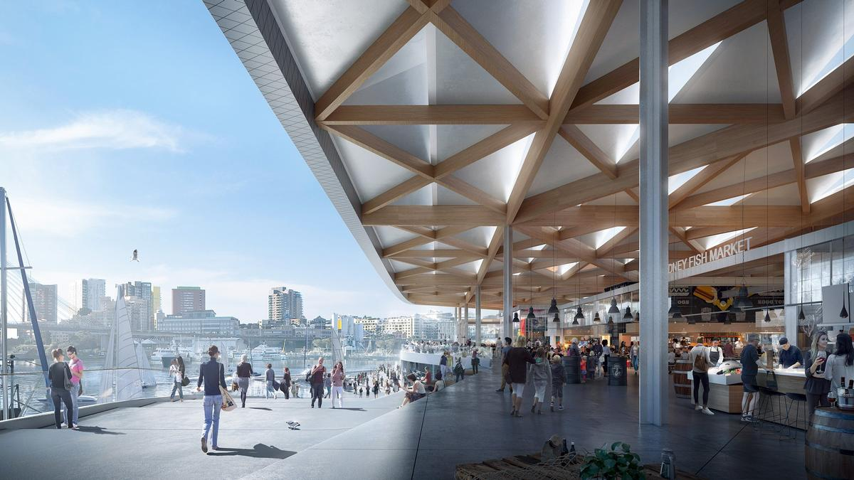 The market is set to become one of the largest of its kind in the southern hemisphere. / Courtesy of 3XN