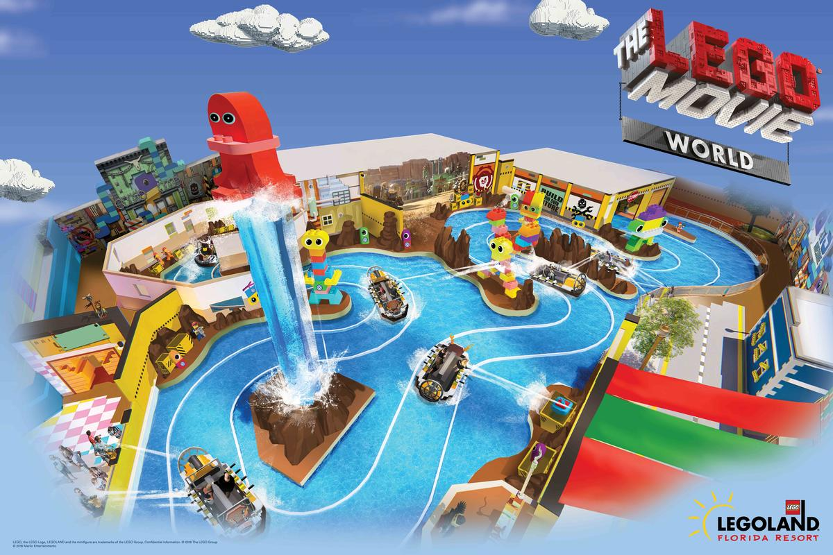 The area is being built in collaboration with Warner Bros Entertainment and Lego System