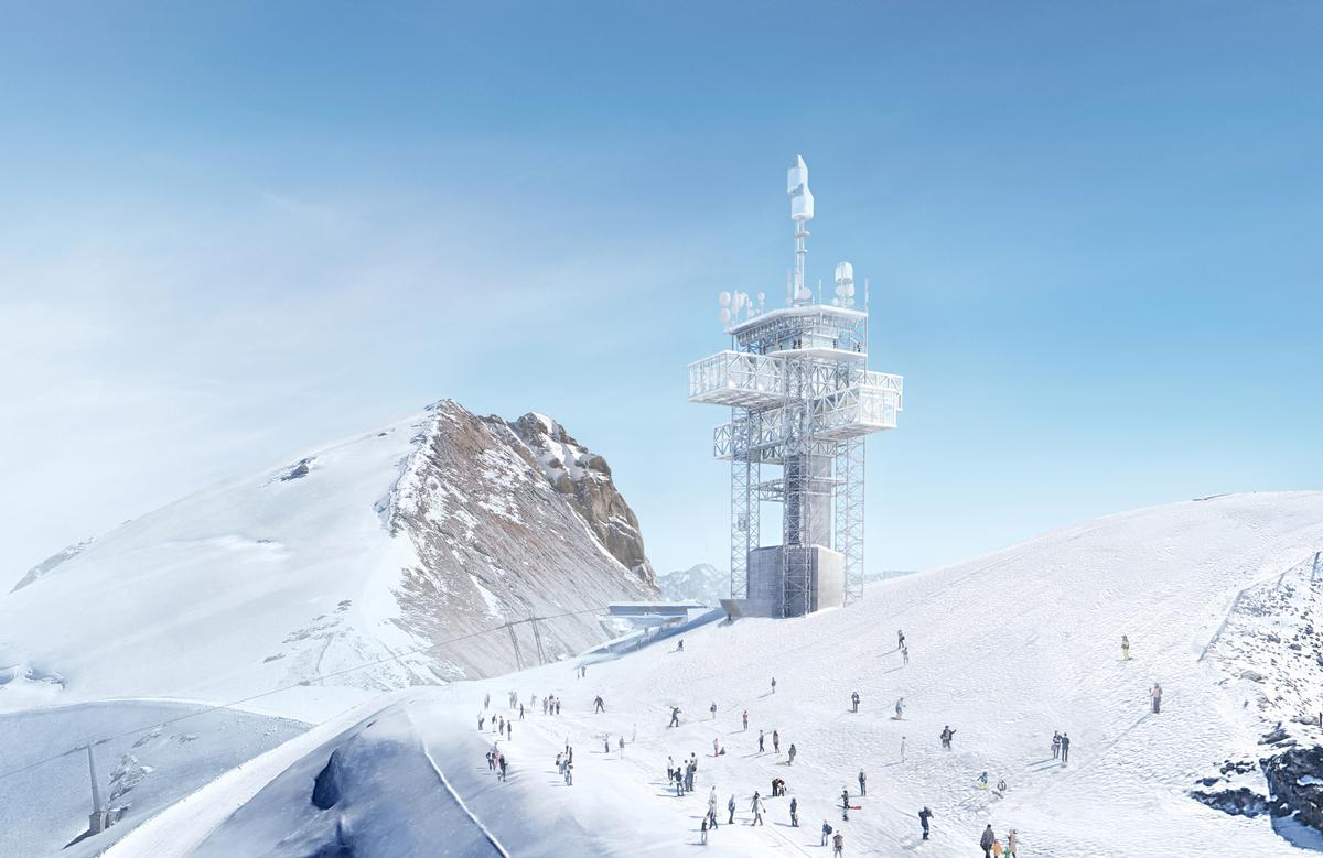 The new summit observatory will be able to accommodate a vast and growing number of visitors; currently, the site attracts over a million visitors per year. / Courtesy of Herzog & de Meuron