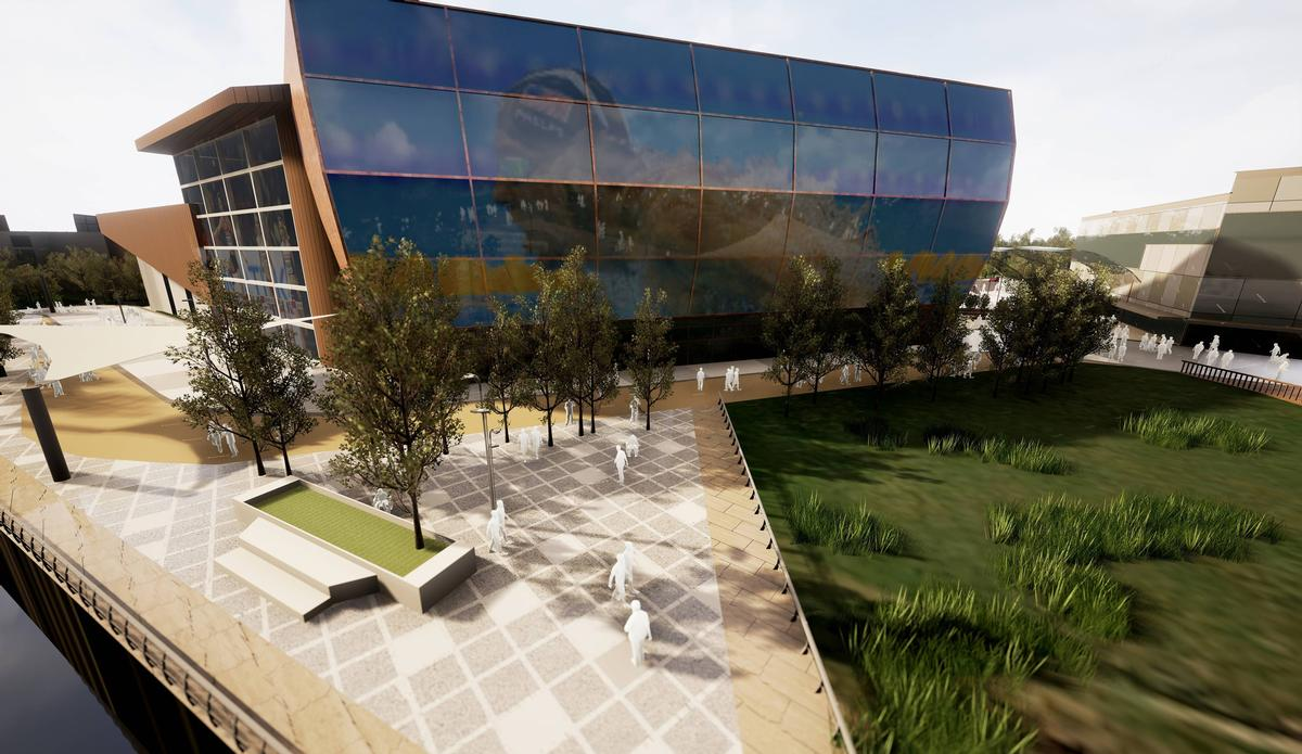 The centre will house a 25m pool and a large health club