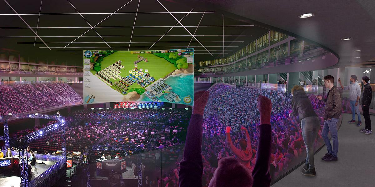 Luoto will also feature esports facilities. / Courtesy of PES-Architects