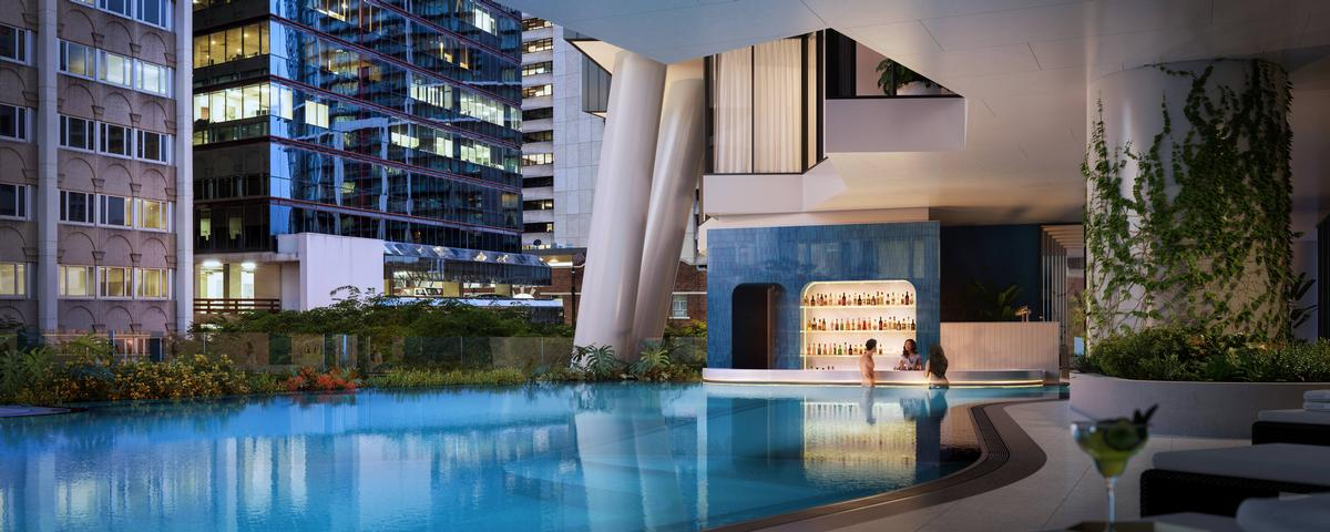 The Westin Brisbane features Queensland's only swim-up bar. / Courtesy of Westin Hotels/ Marriott International