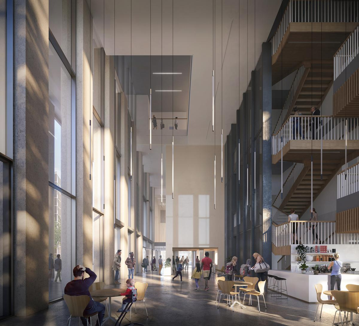 The Britannia is part of Hackney Council's directive to build nearly 2,000 homes, three schools, and a leisure centre on more than 20 sites across the borough by 2022. / Courtesy of FaulknerBrowns Architects