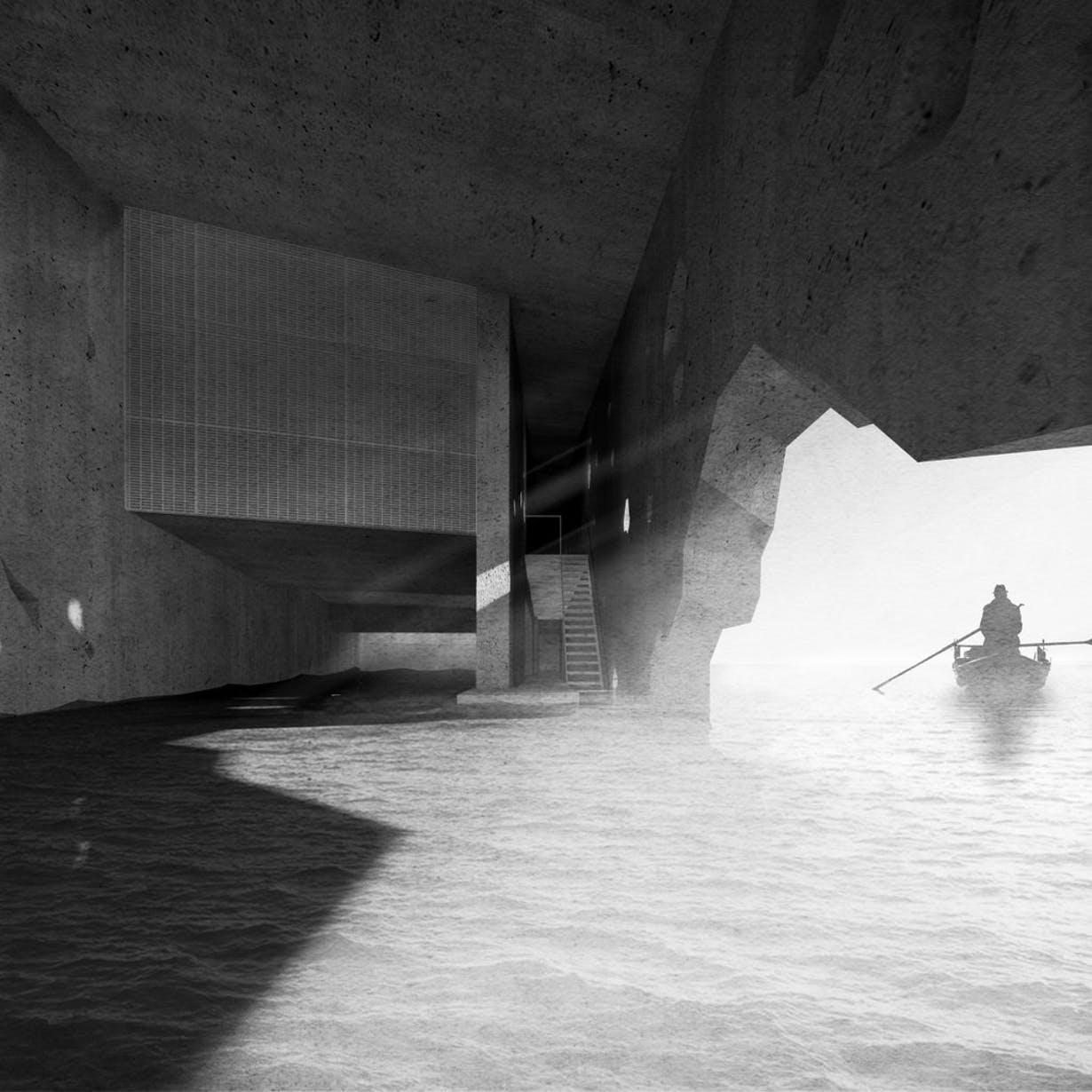 In 2019, UCCA Dune will expand to include a tidal causeway and additional semi-submerged galleries. / Courtesy of OPEN Architecture