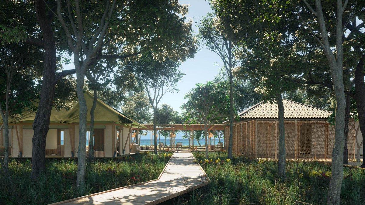 The resort was designed by French architecture studio, AW². / Courtesy of Kasiiya Papagayo