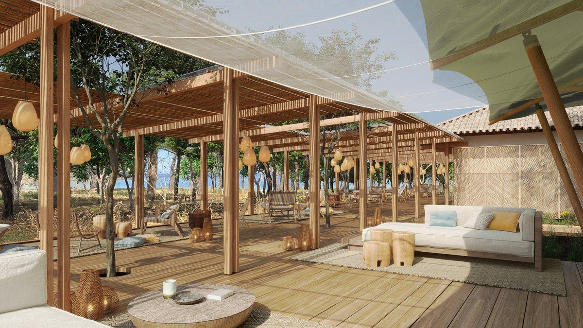 Kasiiya will also feature open-air lounges and dining areas. / Courtesy of Kasiiya Papagayo