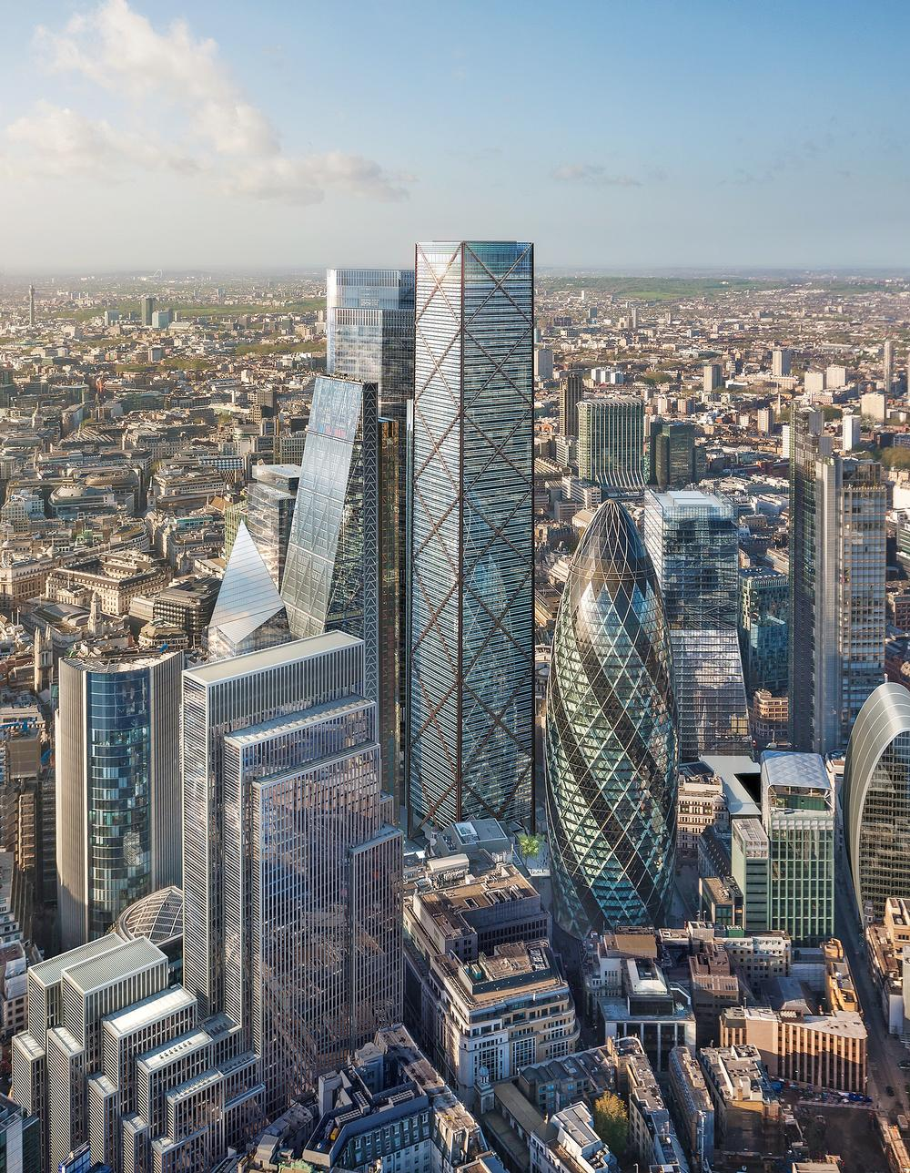 Eric Parry Architects has designed a new London skyscraper, but it's not easy to build tall in the capital / PHOTO: DBOX for Eric Parry Architects