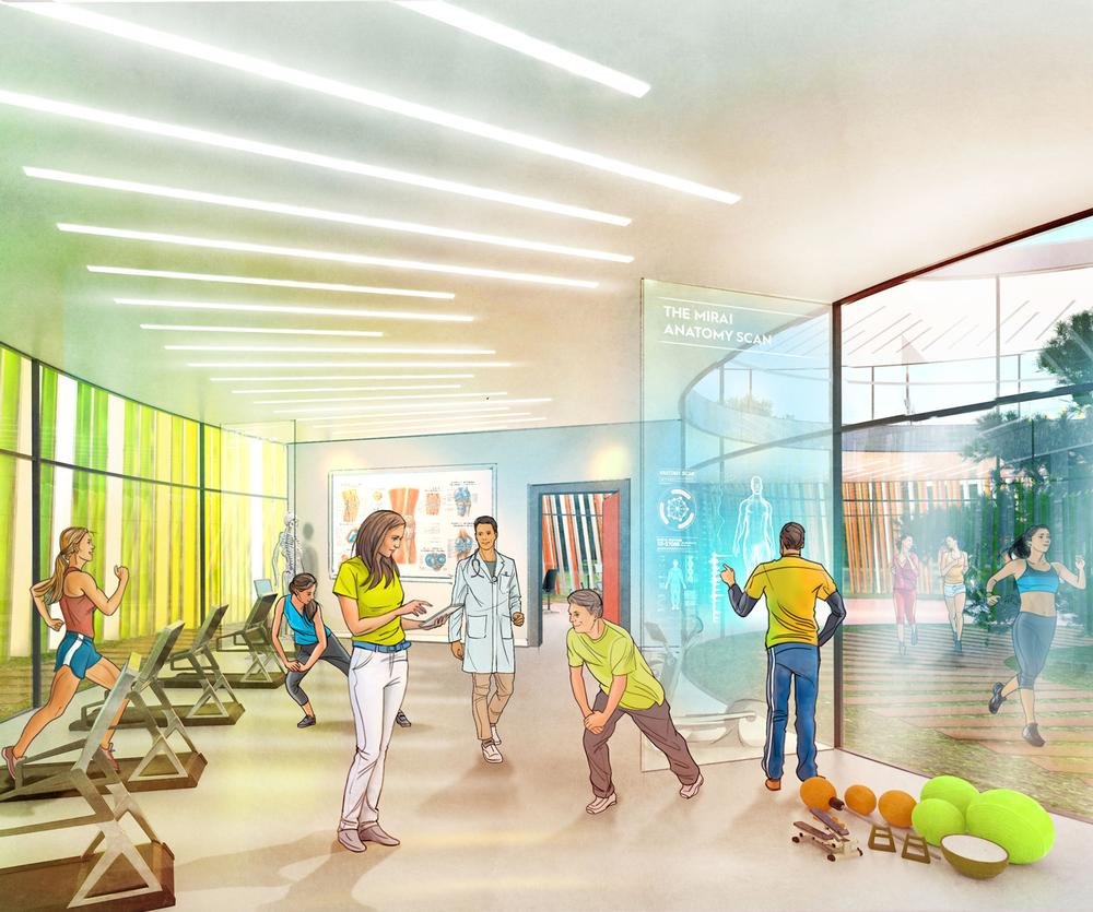 Indoor and outdoor fitness facilities will be available, along with retail and F&B operations located throughout the building