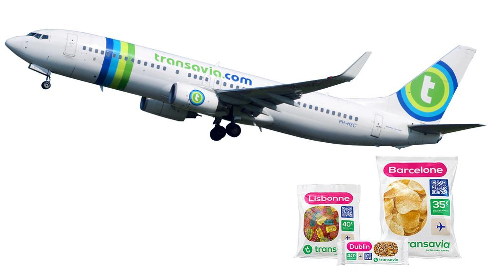 Dutch airline Transavia challenged consumer viewpoints by selling its tickets as branded snack packets